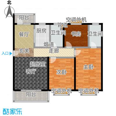 自然居家园3室2厅2卫125㎡户型