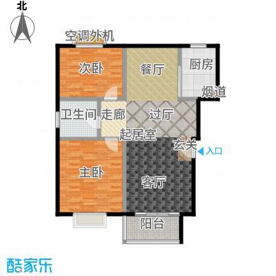 自然居家园2室2厅1卫92㎡户型
