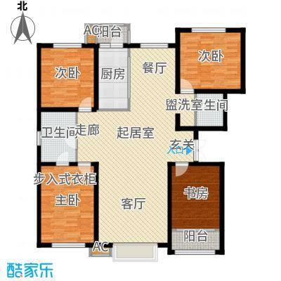 新城御景167.00㎡G户型四室两厅两卫户型4室2厅2卫