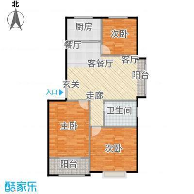水岸名居90.86㎡10号楼1单元东户型 3室2厅1卫户型3室2厅1卫
