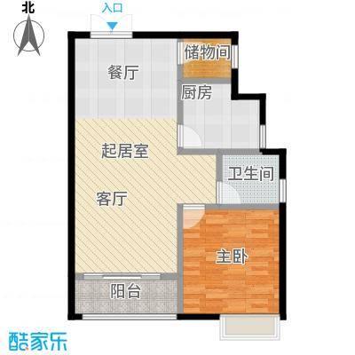 麒麟山庄69.00㎡户型1室1卫1厨
