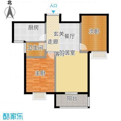 中登悦园106.93㎡2室2厅1卫户型2室2厅1卫