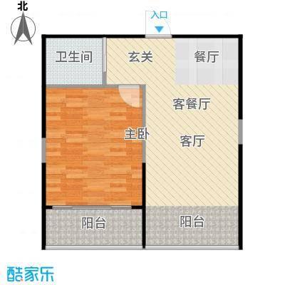 佳馨尊邸户型1室1厅1卫