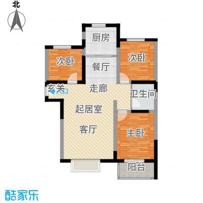 衡水花香维也纳3室2厅1卫 115~117平米户型3室2厅1卫