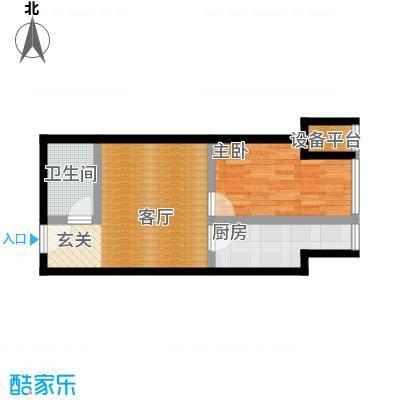 凤城一号户型1室1厅1卫1厨