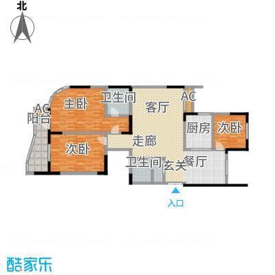 华庭锦绣苑143.22㎡3室户型图户型3室2厅2卫S