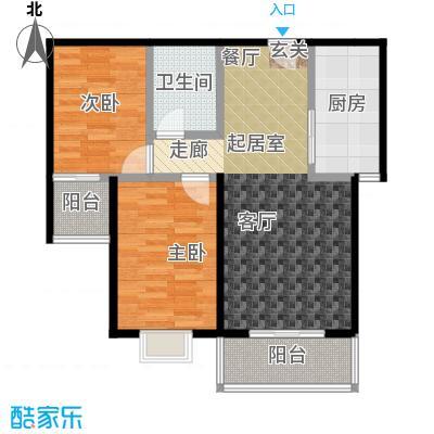 红日景园红日景园 户型图2室2厅1卫 88.88 m²户型2室2厅1卫