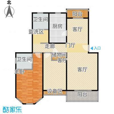 成事高邸90.00㎡房型: 二房; 面积段: 90 -120 平方米;户型