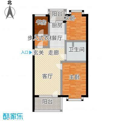 世界温泉部落77.00㎡洋房B-B 2室1厅1卫户型