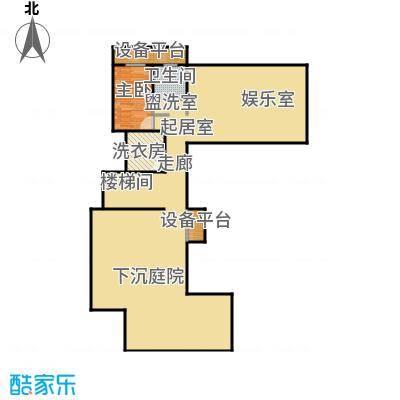 山水龙庭地下平面图户型1室1卫
