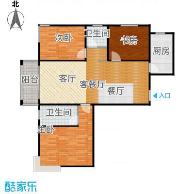 广泰瑞景城103.28㎡户型3室2厅2卫