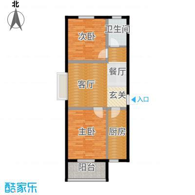 五洲国际官邸67.08㎡12号楼A户型2室2厅1卫