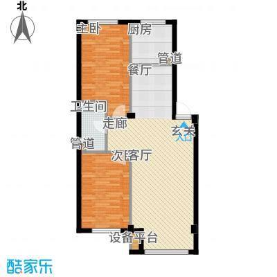 蓝色康桥F区92.79㎡2室2厅1卫