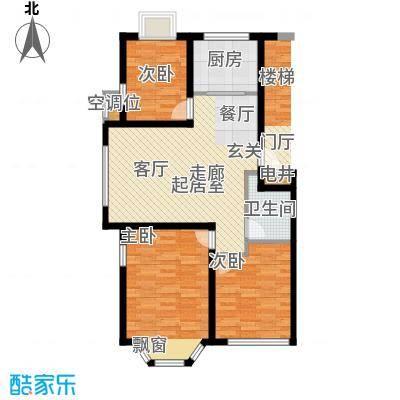 英伦花园96.00㎡多层2户型2室2厅1卫户型2室2厅1卫