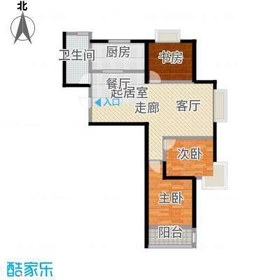 栋盛苑两室两厅一卫户型2室2厅1卫