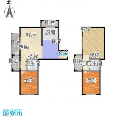 江霆华府94.72㎡项目复式使用面积94.72平米户型2室2厅2卫