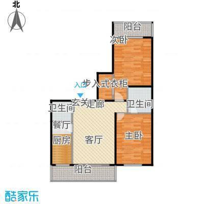 江霆华府82.23㎡项目使用面积82.23平米户型图户型2室1厅2卫