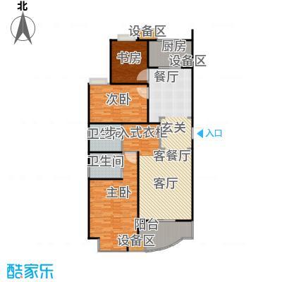 均泰丽轩2室2厅2卫 157.90平米户型
