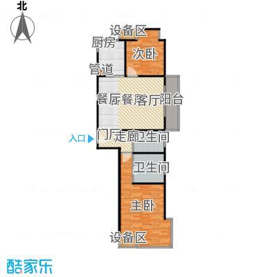 均泰丽轩2室2厅2卫 115.72平米户型