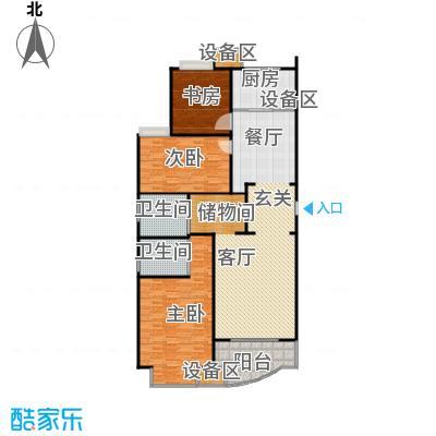 均泰丽轩2室2厅2卫 157.9㎡ 2室2厅2卫1厨157.90㎡户型