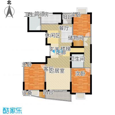 静安阳光华庭138.51㎡房型: 三房; 面积段: 138.51 -156.14 平方米; 户型