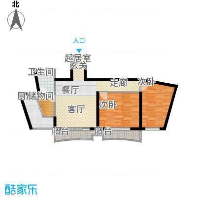 芳卉园(三期)98.85㎡房型: 二房; 面积段: 98.85 -99.14 平方米;户型
