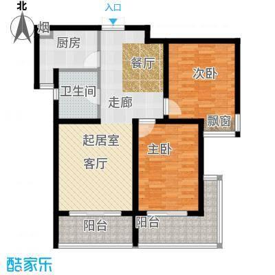 复地翠微新城(三期)90.00㎡房型: 二房; 面积段: 90 -102 平方米;户型