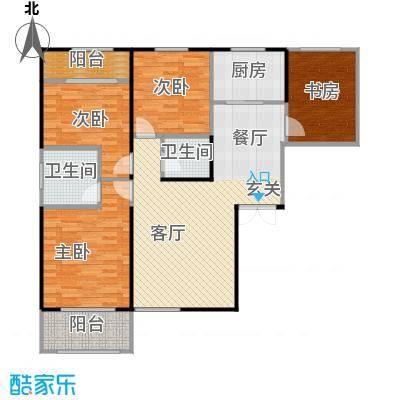 高新百悦城117.53㎡A1户型4室2厅2卫