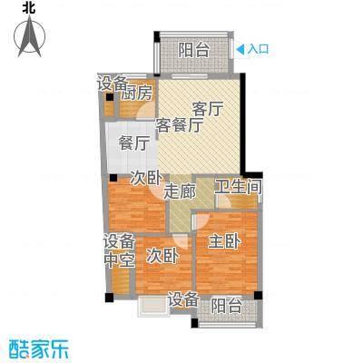 绿洲富城户型3室1厅1卫1厨