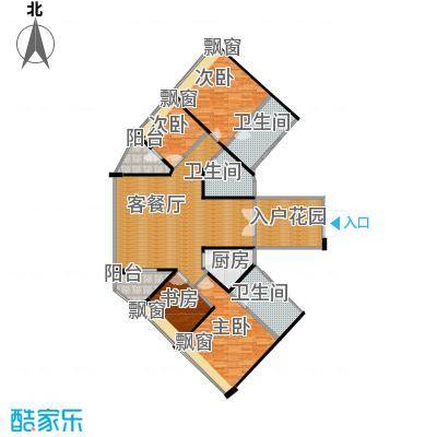 鸿洲・天玺169.00㎡A户型4室2厅3卫