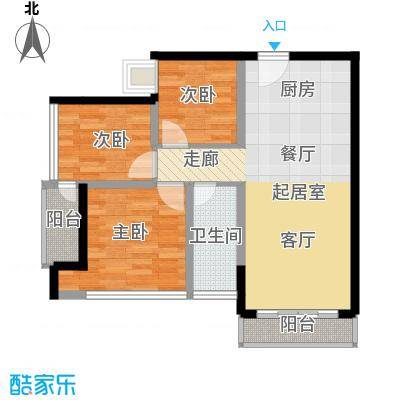 三亚孔雀城73.00㎡D户型3室1厅1卫