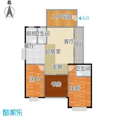 中科蓝湾国际3#A单元,两房两厅两卫,面积约95.15-95.34㎡户型
