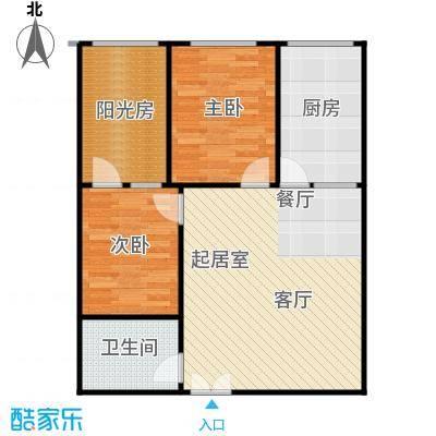 卓达中苑商务大厦A座B户型两室两厅一卫户型2室2厅1卫