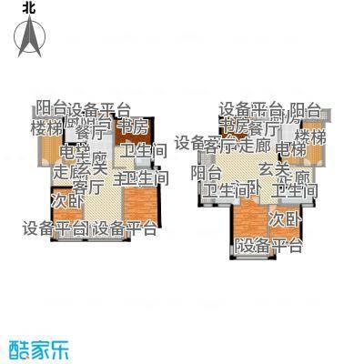 新鹏阳光华庭135.20㎡K型户型3室2厅2卫