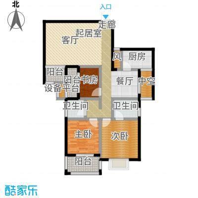 瑞景城108.40㎡1、2#楼E户型2室2厅2卫