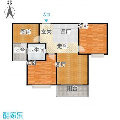 康宁雅庭108.26㎡房型: 二房; 面积段: 108.26 -126.58 平方米;户型