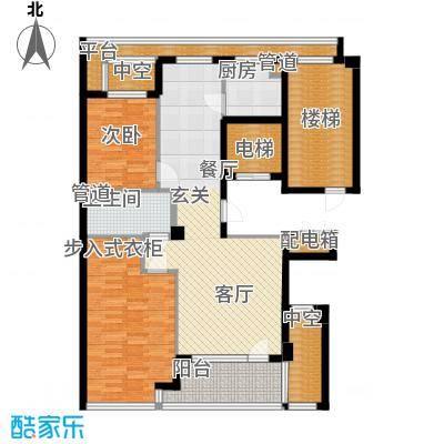 绿城百合花园100.00㎡D9号楼 两室两厅一卫户型2室2厅1卫