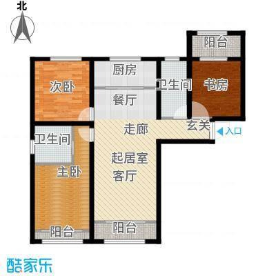 融茂第一城122.70㎡C户型3室2厅2卫