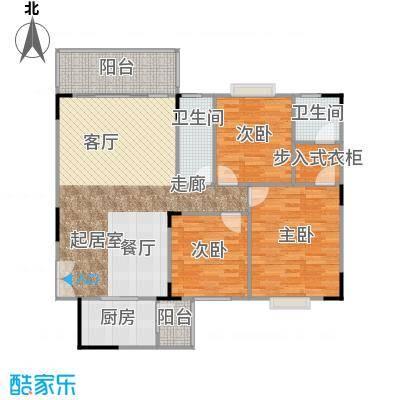 华桂园户型3室2卫1厨