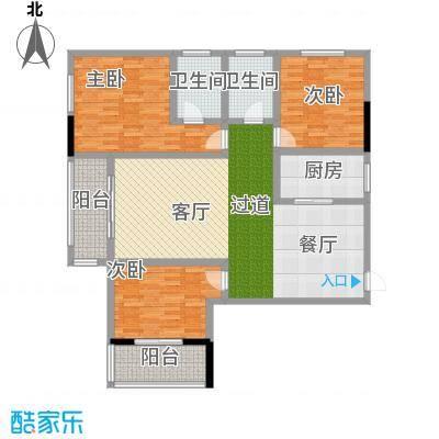 昌泰千秋大厦134.68㎡A户型3室2厅2卫