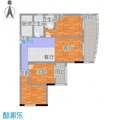 昌泰千秋大厦130.70㎡B户型3室2厅2卫