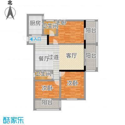 昌泰千秋大厦122.96㎡D户型3室2厅2卫