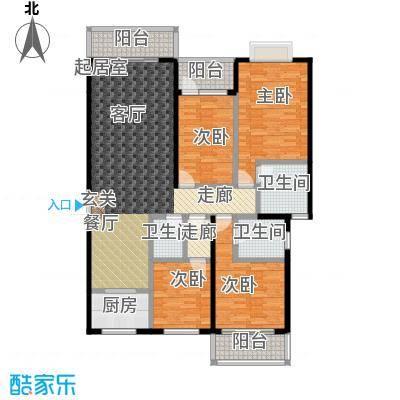 世纪苑143.13㎡A区5#B户型4室2厅3卫