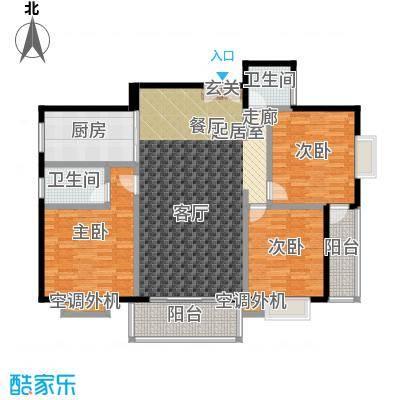 金星阳光格林139.99㎡G户型3室2厅2卫