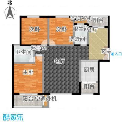金星阳光格林132.22㎡E户型3室2厅2卫