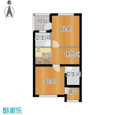 君海52.00㎡联排玲珑墅户型10室