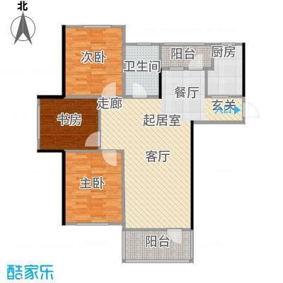 青国青城88.00㎡三室两厅一卫88平米户型图户型3室2厅1卫