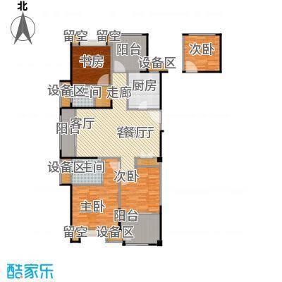 路劲城市主场125.00㎡4#楼C1户型约125平米户型4室2厅2卫