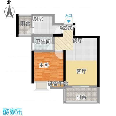 顺祥南洲1号61.33㎡4-2,4-3户型1室1厅1卫