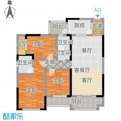 彰泰峰誉121.00㎡10-A户型3室2厅2卫